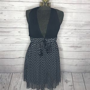 Guess Black and White Polka Dot Hater Dress H150